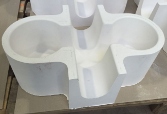 Base-Insulated Tabletop Refractory Cross Feeder Before Shipping