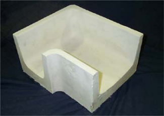 Monolithic Insural 140 Tabletop Refractory Corner