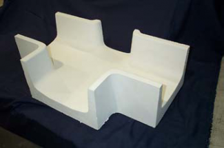 Monolithic Insural 140 Tabletop Refractory Cross Trough