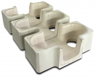 Shell-Insulated Tabletop Refractory Cross Feeders