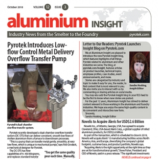 Pyrotek Publishes Aluminium Insight October 2018