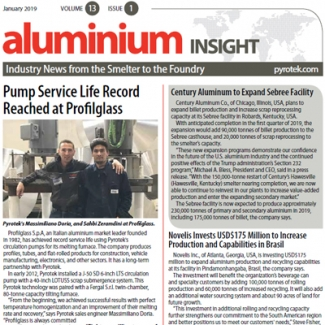 Pyrotek Publishes January 2019 Aluminium Insight Newsletter